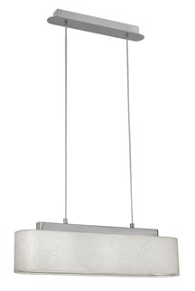 Eglo 20089AS - 3x60W Multi Light Pendant w/ Chrome Finish & Cream Foil Glitter Shade