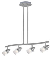Eglo 20482A - 4x50W Multi Light Pendant w/ Matte Nickel Finish & Frosted Tip Glass