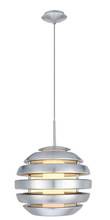 Eglo 88294A - 1x100W Pendant w/ Aluminum Brushed Finish & Opal Glass