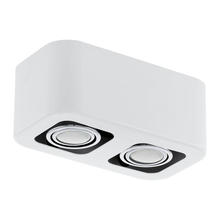 Eglo 93012A - 2x20W Ceiling Light w/ Glossy White & Chrome Finish