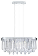 Eglo 93424A - 7x60W Oval Chandelier w/ Chrome Finish & Clear Crystals