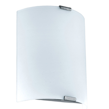 Eglo 94598A - 1x8.5W LED Wall Light w/ Silver Finish and White Glass