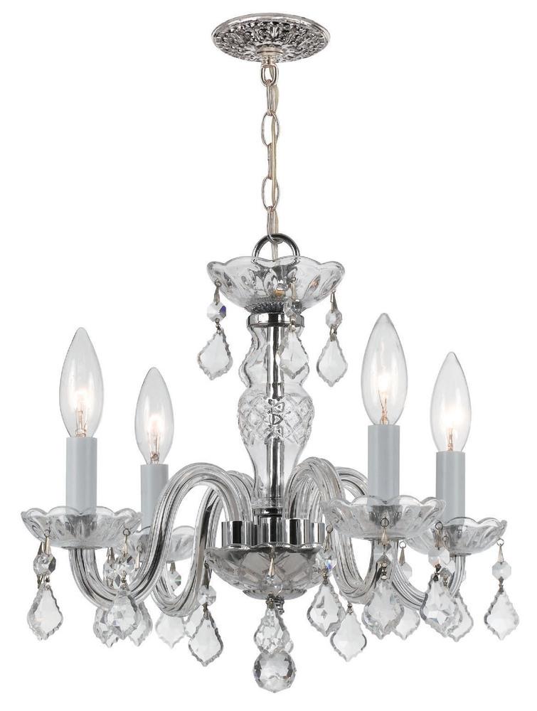 Crystorama 4 light clear italian crystal chrome mini chandelier i crystorama 4 light clear italian crystal chrome mini chandelier i aloadofball Choice Image