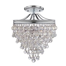 Crystorama 130-CH_CEILING - Crystorama Calypso 3 Light Chrome Semi-Flush