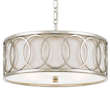 Crystorama 287-SA - Libby Langdon for Crystorama Graham 6 Light Antique Silver Chandelier