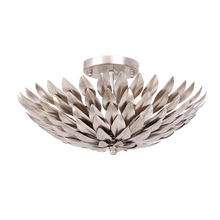 Crystorama 505-SA - Crystorama Broche 4 Light Antique Silver Ceiling Mount