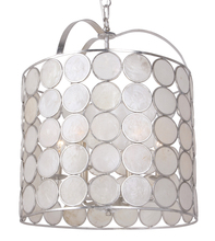 Crystorama 6007-SA - Crystorama Coco 6 Light Antique Silver Lantern