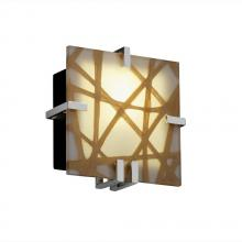 Justice Design Group 3FRM-5550-CONN-CROM-LED-1000 - Clips Square Wall Sconce (ADA)