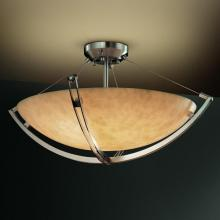 "Justice Design Group CLD-9714-35-MBLK - 36"" Semi-Flush Bowl w/ Crossbar"