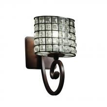 Justice Design Group WGL-8571-30-GRCB-DBRZ-LED1-700 - Victoria 1-Light LED Wall Sconce
