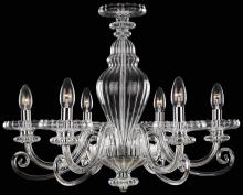 Minka Metropolitan N9166 - Six Light Chrome Clear Glass Up Chandelier