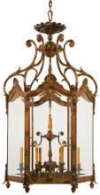 Minka Metropolitan N952012 - Twelve Light Oxide Bronze Clear Bevelld Glass Framed Glass Foyer Hall Fixture