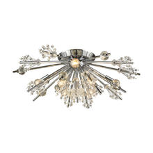 ELK Lighting 11748/8 - Starburst 8 Light Semi Flush In Polished Chrome
