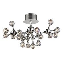 ELK Lighting 30026/18 - Molecular 18 Light Semi Flush In Chrome And Irid