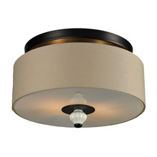 ELK Lighting 31371/2 - Lilliana 2 Light Semi Flush In Aged Bronze And C