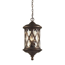 ELK Lighting 42033/3 - Barrington Gate 3 Light Outdoor Pendant In Hazle