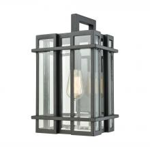 ELK Lighting 45315/1 - Glass Tower 1 Light Outdoor Wall Sconce In Matte