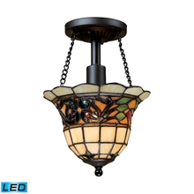 ELK Lighting 70021-1-LED - Tiffany Buckingham 1 Light LED Semi Flush In Vin