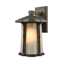 ELK Lighting 87092/1 - Brighton 1 Light Outdoor Wall Sconce In Smoked B