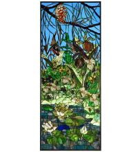 "Meyda Tiffany 126364 - 24.25""W X 59.5""H Woodland Lilypond Stained Glass Window"