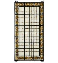 "Meyda Tiffany 30406 - 24""W X 48""H Fleur-De-Lis Stained Glass Window"
