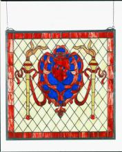 "Meyda Tiffany 44908 - 20""W X 20""H Victorian Shield Stained Glass Window"
