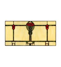 "Meyda Tiffany 65533 - 17""W X 8.20""H Parker Poppy Stained Glass Window"