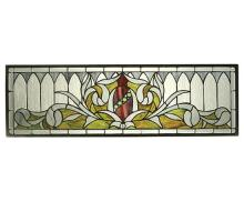 "Meyda Tiffany 66384 - 33.25""W X 10.25""H Gothic Transom Stained Glass Window"