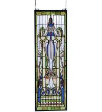 "Meyda Tiffany 67195 - 11""W X 34""H Royal Blue Windsor Window"