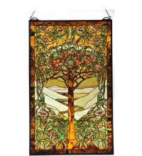 "Meyda Tiffany 98944 - 24""W X 38.75""H Tiffany Tree Of Life Stained Glass Window"